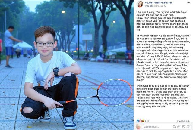 Dù mẹ Vân có chút bối rối nhưng thực sự rất vui vì Tơ rất đam mê thể thao, chăm chỉ rèn luyện mỗi ngày.