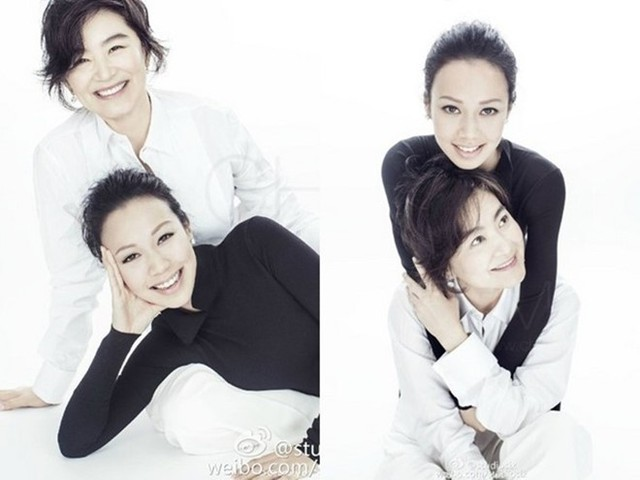 Hiện nữ diễn viên vẫn sống bình lặng bên gia đình nhỏ. Mối quan hệ hòa hợp, gắn bó giữa cô với con gái riêng của chồng cũng khiến nhiều người ngưỡng mộ. ẢNH: WEIBO NV