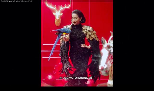 Đoạn tuyên bố của Thu Minh trong teaser nhá hàng sản phẩm âm nhạc mới. Ảnh: cắt từ video