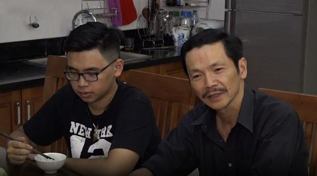 Bố con nghệ sĩ Trung Anh.
