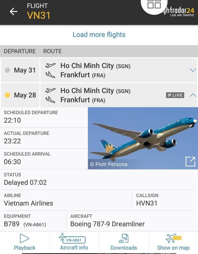 Những dữ liệu thực tế cho thấy thông tin về chuyến bay VN031 của Vietnam Airlines bất nhất.
