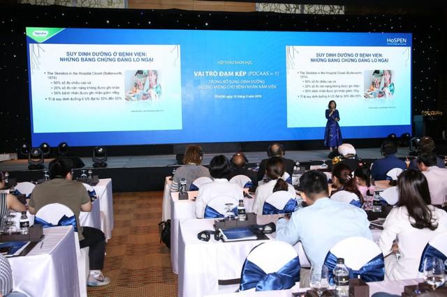 Hội nghị về Vai trò đạm kép (PDCAAS=1) trong bổ sung dinh dưỡng đường miệng cho bệnh nhân nằm viện được tổ chức tại TP.HCM thu hút hơn 550 cán bộ y tế đến từ các bệnh viện lớn TP.HCM và các tỉnh phía Nam.
