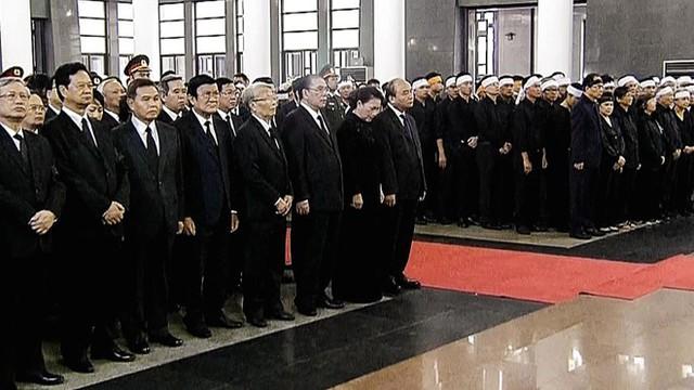Lễ truy điệu nguyên Chủ tịch nước Lê Đức Anh. Ảnh: Zing