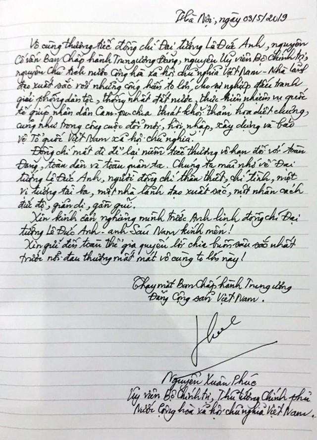 Lời tiễn biệt của Thủ tướng Nguyễn Xuân Phúc