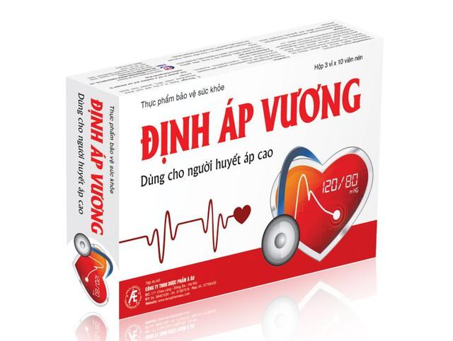 Định Áp Vương hỗ trợ điều trị cao huyết áp an toàn, hiệu quả