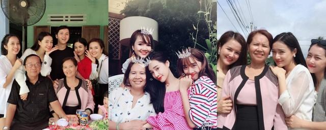 Những bức ảnh gia đình của Nhã Phương cho thấy chị gái, em gái và em dâu của vợ Trường Giang đều rất xinh đẹp.