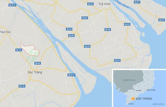 Xã Phú Tâm (khoanh đỏ). Ảnh: Google Maps.