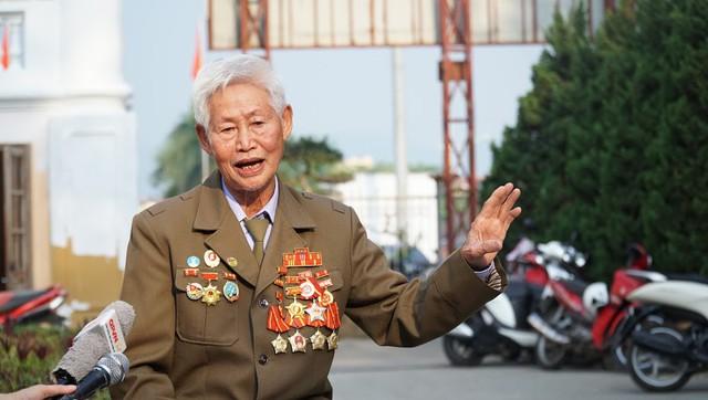 Ông Phạm Đức Cư, cựu chiến binh thuộc Trung đoàn 367 pháo cao xạ trong chiến dịch Điện Biên Phủ. Ảnh:PV