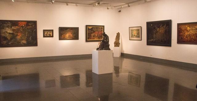 Một góc trưng bày của triển lãm. Ảnh: Dương Thành