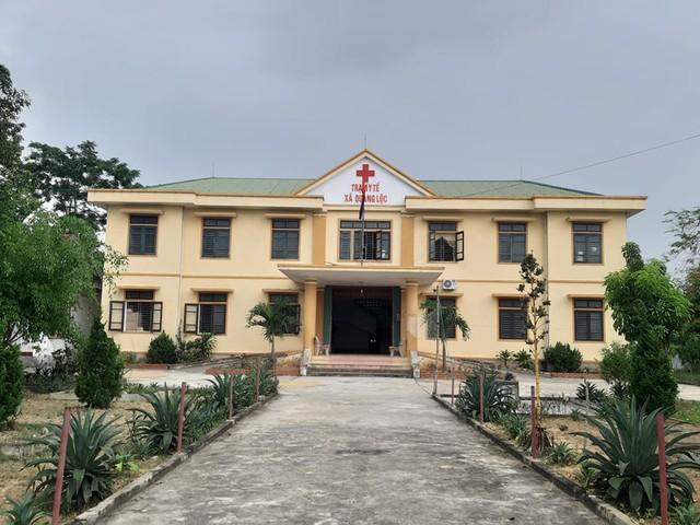 Trạm y tế xã Quang Lộc, nơi bác sĩ Đặng Công Duẩn làm việc.