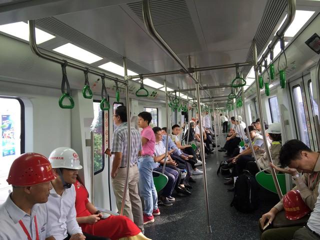 Tàu điện tuyến Cát Linh - Hà Đông chạy thử liên động tháng 9/2018. Ảnh: PV