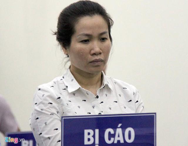 Bị cáo Hằng tại phiên tòa sơ thẩm. Ảnh: Hoàng Lam.