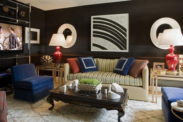 Một căn phòng khách thể hiện đúng cá tính của bạn thì ngại gì mà không dùng gam màu đen yêu thích nhất làm chủ đạo.