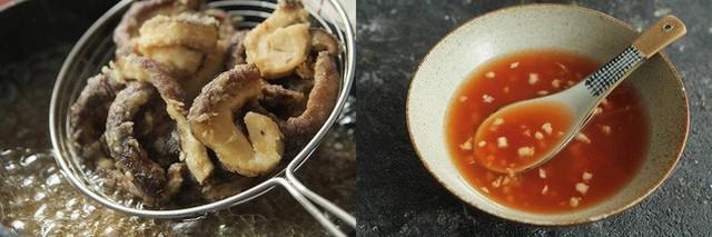 Đổ xốt chua ngọt vào nồi đun cho xốt hơi sánh lại thì thêm nấm đã chiên vào đảo đều sao cho xốt phủ đều nấm là được.