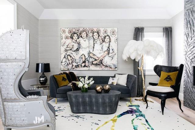 Những căn phòng khách được thiết kế theo ngẫu hứng dưới con mắt thẩm mỹ của chủ nhân không theo bất kỳ nguyên tắc, khuôn thước nào luôn mang một sức lôi cuốn riêng.