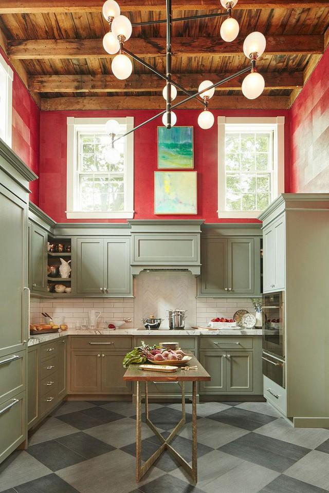 Dễ dàng nhận thấy những căn bếp với thiết kế kiểu này trông rất thoáng đãng, rộng rãi.