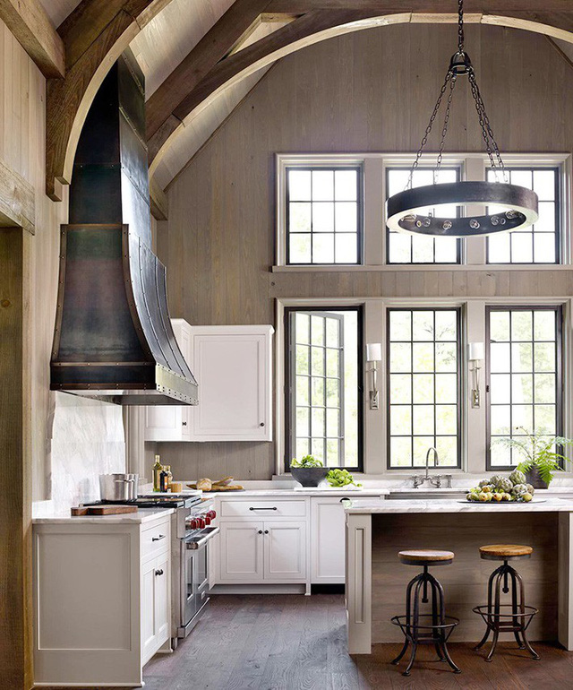 Với một không gian có quá nhiều đồ dùng như nhà bếp thì kiểu thiết kế này là rất thích hợp.