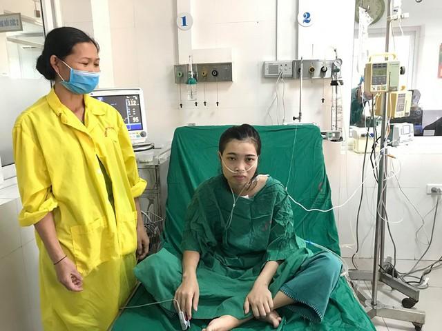 Chị Lài đã ổn định sau 2 lần đại phẫu thuật, 6 lần can thiệp ngoại khoa