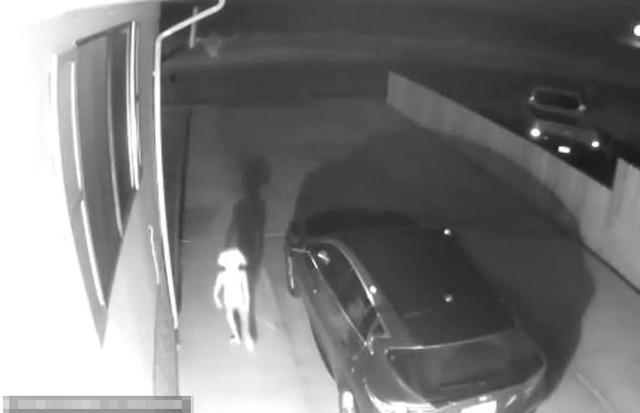 Sinh vật hình dạng kỳ lạ, đi với tư thế kỳ quái bên ngoài ngôi nhà của chị ViVian Gomez ở Mỹ hôm 2/6. Ảnh cắt từ video.