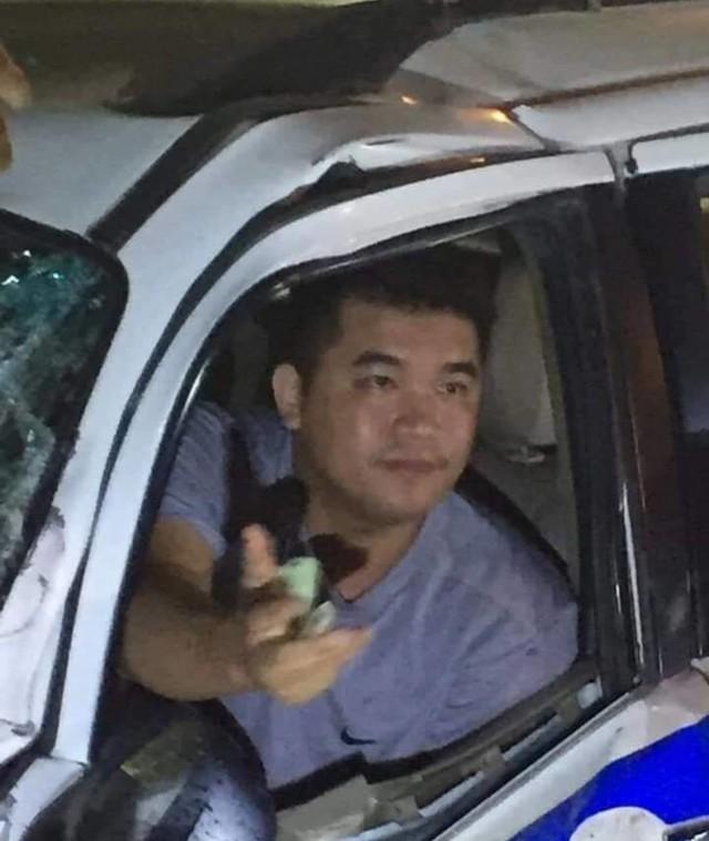 Thiếu Úy Ân sau khi gây tai nạn