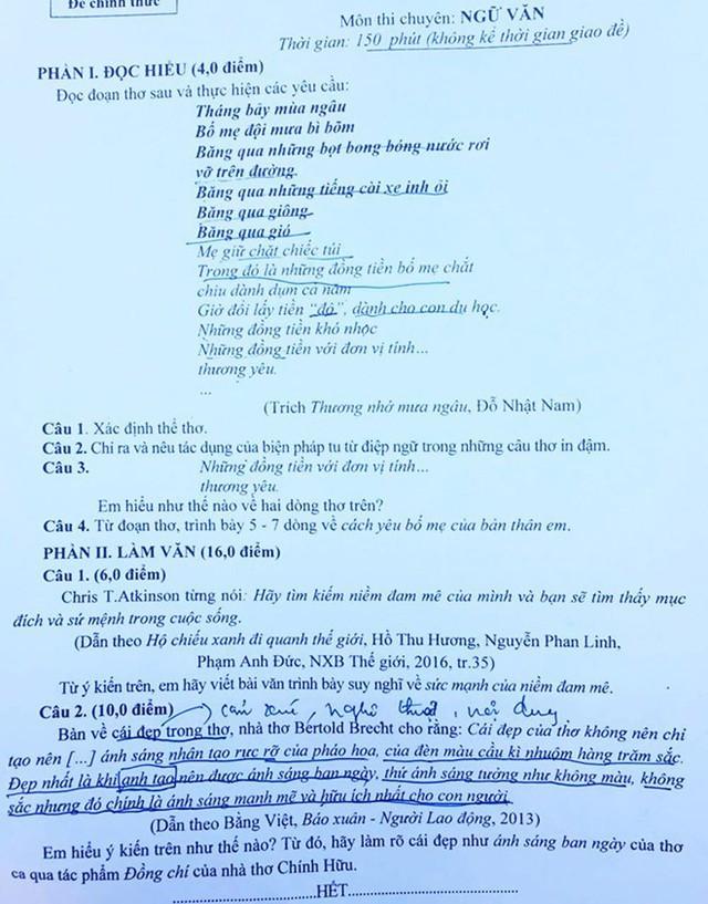 TS Trịnh Thu Tuyết - giáo viên Ngữ văn tại Hệ thống Giáo dục HOCMAI - đánh giá đề thi vào lớp 10 chuyên Văn của Nghệ An có cấu trúc hợp lý với các câu hỏi đọc hiểu, nghị luận xã hội và nghị luận văn học.