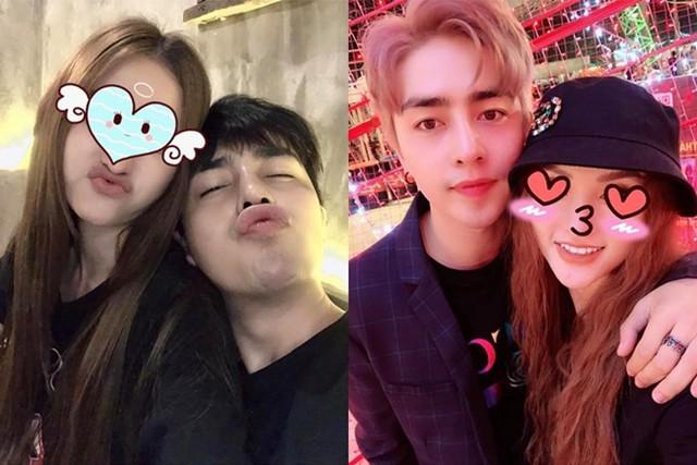 Riêng Kin Nguyễn lại thường che mặt bạn gái nổi tiếng mỗi khi đăng ảnh chung trên trang cá nhân.