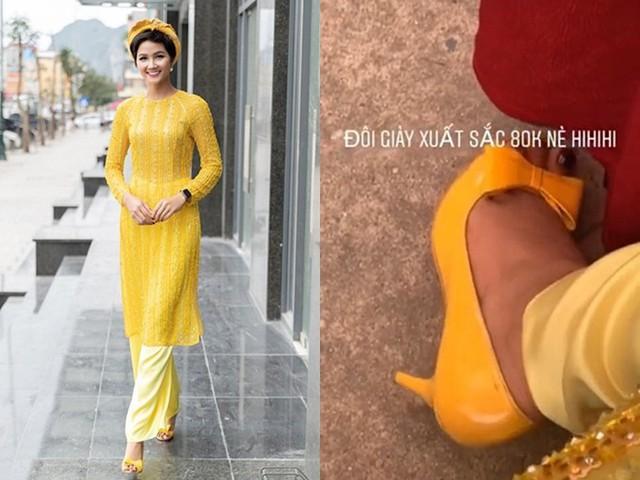 Ngay cả đi sự kiện, cô không ngại mang giày cũ giá chỉ 80.000 đồng. Với HHen, quan trọng là sự phù hợp, thoải mái chứ không nằm ở giá tiền hay hàng hiệu.