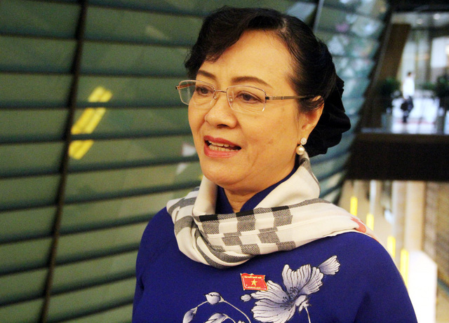 Bà Nguyễn Thị Quyết Tâm (Đại biểu đoàn TPHCM). Ảnh: L.Bảo