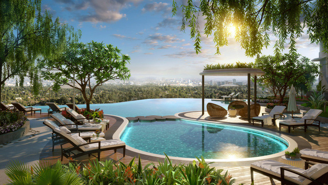 Gamuda Gardens có đầy đủ tiện ích hiện đại và sang trọng như khu nghỉ dưỡng