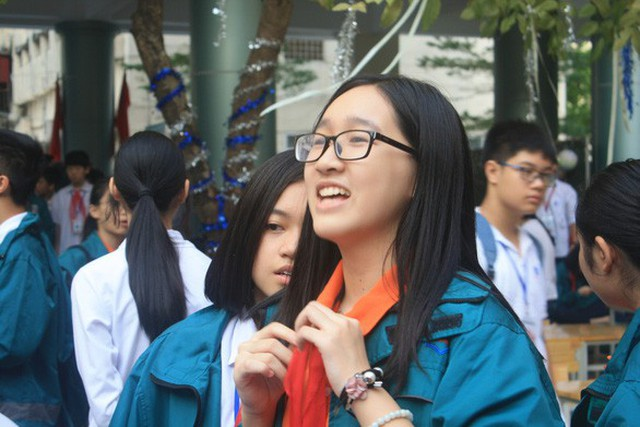 Học sinh trường THCS & THPT Nguyễn Tất Thành (Hà Nội) - Ảnh: VĨNH HÀ