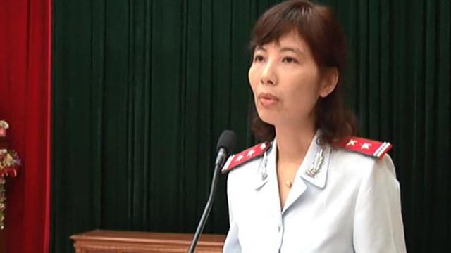 Bà Nguyễn Thị Kim Anh cùng 2 thanh tra trong đoàn bị khởi tố về hành vi nhận hối lộ. Ảnh: Cổng thông tin điện tử huyện Vĩnh Tường.