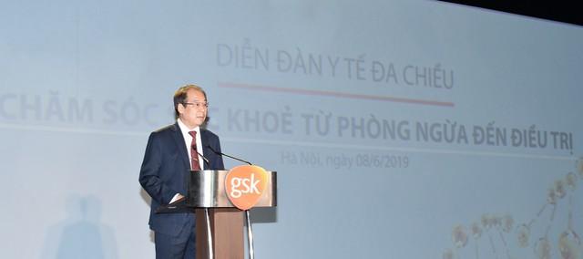 PGS. TS Trần Đắc Phu, Cục trưởng Cục Y tế Dự phòng, Bộ Y Tế phát biểu tại sự kiện
