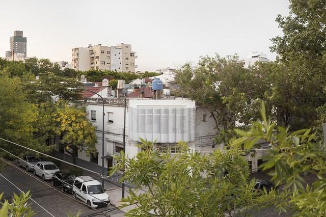 Căn hộ chiếm một góc của tòa nhà cổ kính được các kiến trúc sư bao bọc bên ngoài một cấu trúc mở, uốn lượn như con sóng.