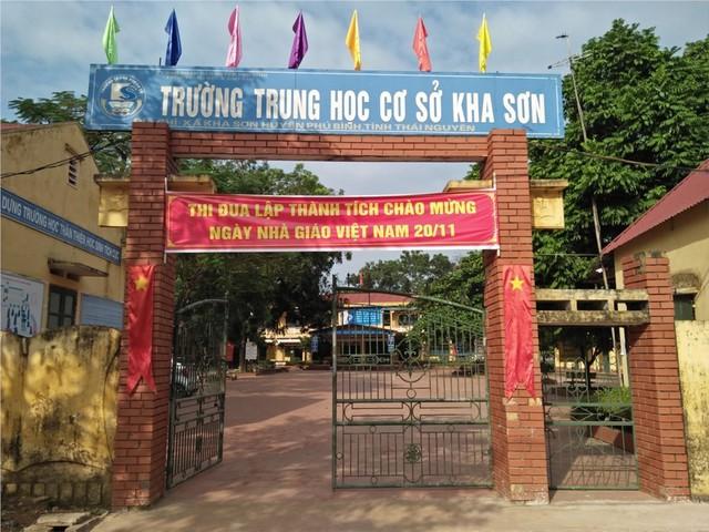 Trường THCS Kha Sơn, nơi được cho là xảy ra vụ việc.