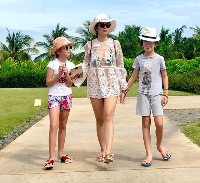 Nàng Bống đang có chuỗi ngày nghỉ dưỡng cùng các con tại Đà Nẵng.