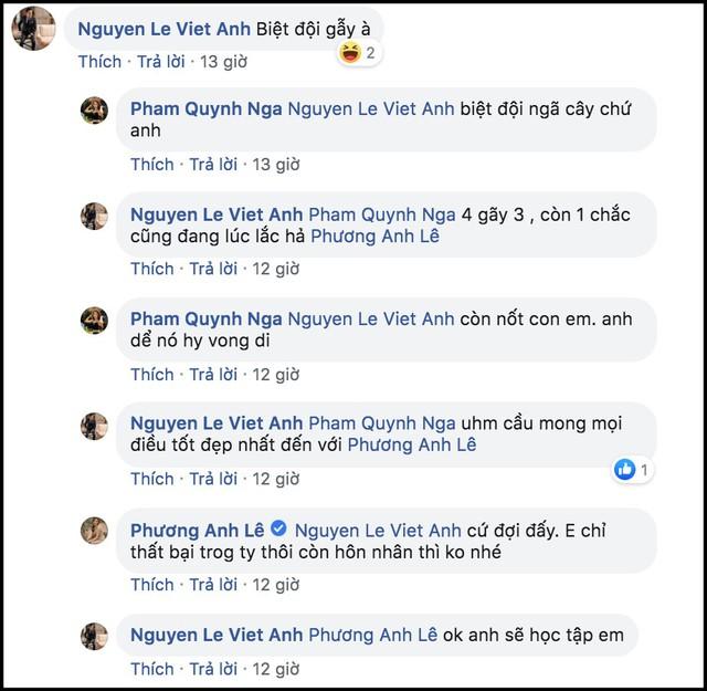 Cuộc trò chuyện của Việt Anh, Quỳnh Nga và Phanh Lee trên Facebook cũng khiến đồn đoán Huyền Lizzie rạn nứt hôn nhân dấy lên trong công chúng.