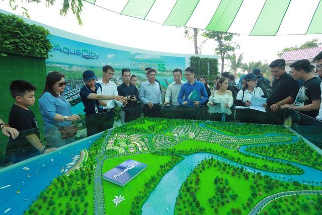 Dự án Đô thị sinh thái Aqua City cũng thu hút không kém