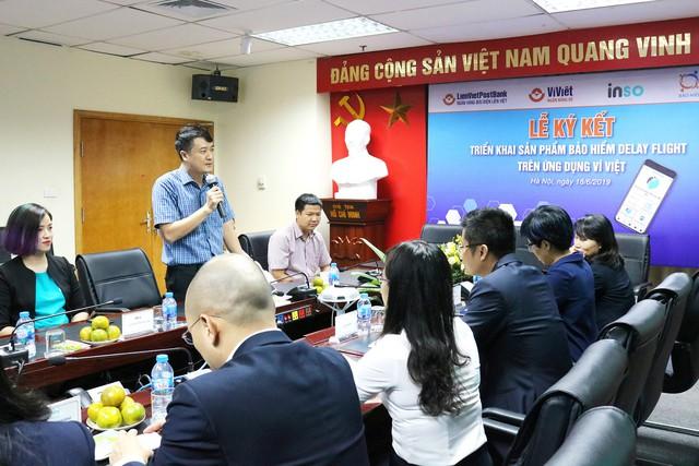 Ông Dương Trọng Chữ, Giám đốc Khối Ngân hàng số LienVietPostBnak phát biểu tại buổi lễ
