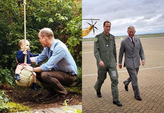 Hai bức ảnh được vợ chồng Hoàng tử William đăng tải nhân Ngày của Cha.
