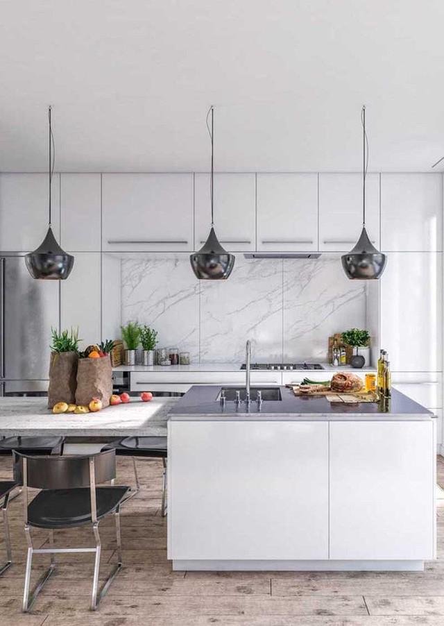 Đồ nội thất có thiết kế thông minh giúp tiết kiệm diện tích cũng là một phần thường thấy bên trong các căn bếp hiện đại.