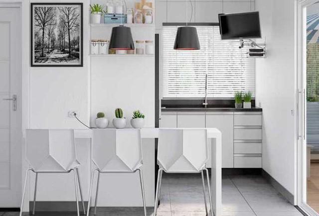 Những bức tường tạo điểm nhấn là một phần không thể thiếu của một căn bếp hiện đại.