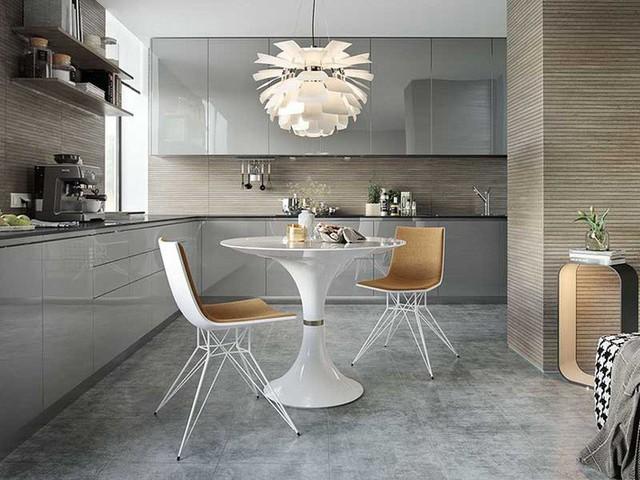 Những bức tường trong nhà bếp hiện đại luôn được trang trí để xóa đi cảm giác đơn điệu, nhàm chán.