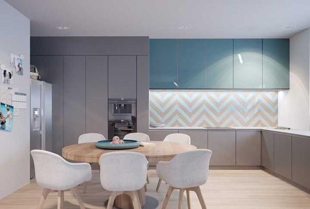 Một căn bếp đủ ánh sáng mang đến người dùng một không gian dễ chịu và thoải mái khi sử dụng.