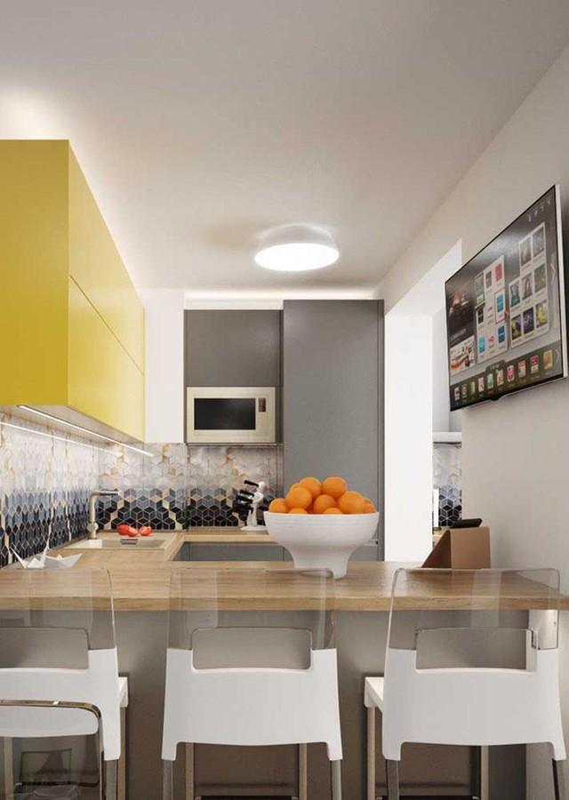 Màu sắc trung tính luôn được ưu tiên sử dụng cho các căn bếp mang phong cách hiện đại.