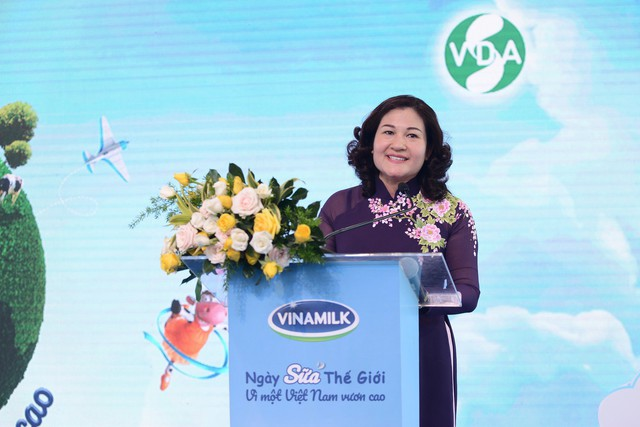 Bà Nguyễn Thị Hà - Thứ trưởng Bộ Lao động, Thương binh và Xã hội phát biểu tại sự kiện