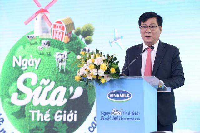 Ông Trần Quang Trung – Chủ tịch Hiệp hội sữa Việt Nam phát biểu tại sự kiện