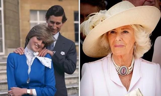 Thái tử Charles và Công nương Diana tuyên bố đính hôn năm 1981 (ảnh trái) và ly hôn năm 1996. Thái tử Charles cưới bà Camilla (ảnh phải) năm 2005. Ảnh: UK Press.