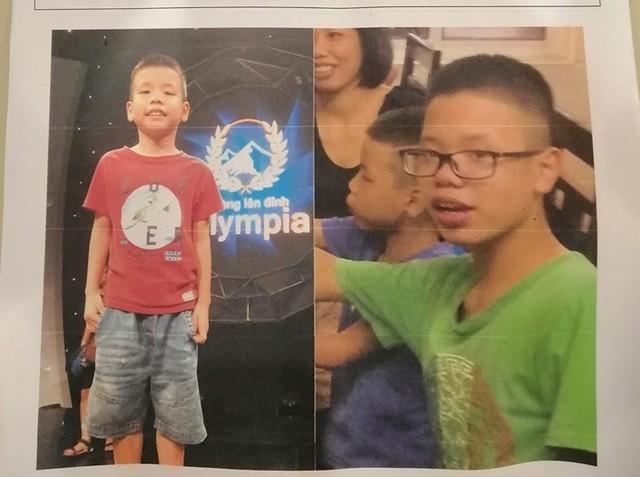 Hình ảnh 2 bé trai trước khi bỏ nhà