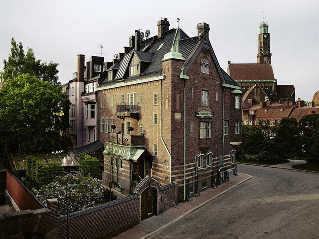 Cận cảnh một góc của ngôi nhà được xây dựng theo phong cách Scandinavian tại London