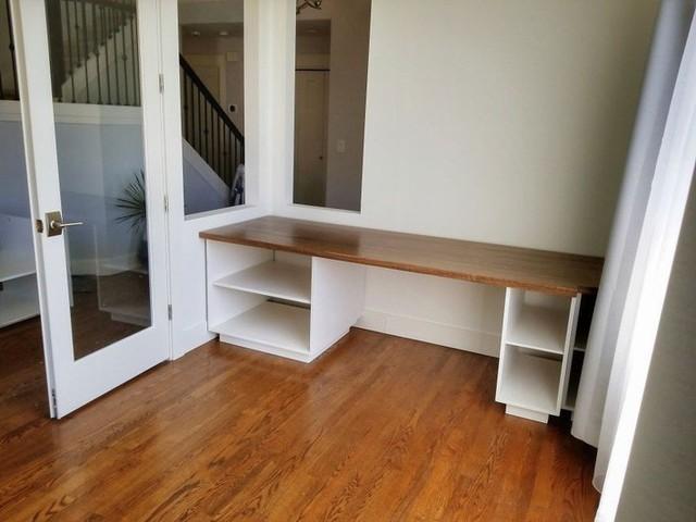 Đây là thiết kế bàn và tủ sau khi được hoàn thành.
